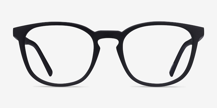 Persea Basalt Plastic Eyeglass Frames from EyeBuyDirect, Front View