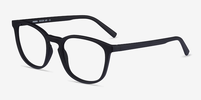 Persea Basalt Plastic Eyeglass Frames from EyeBuyDirect, Angle View