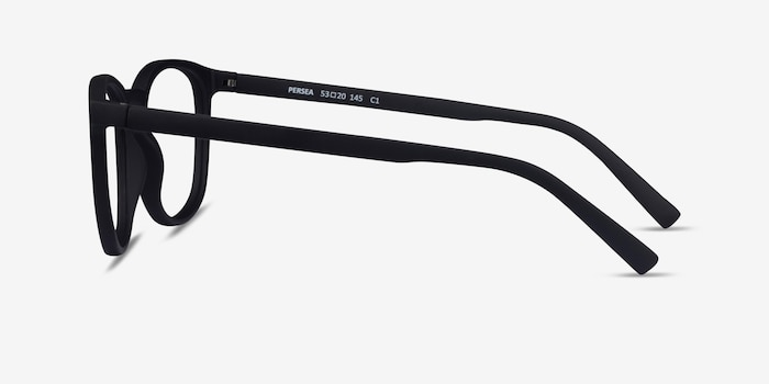 Persea Basalt Plastic Eyeglass Frames from EyeBuyDirect, Side View