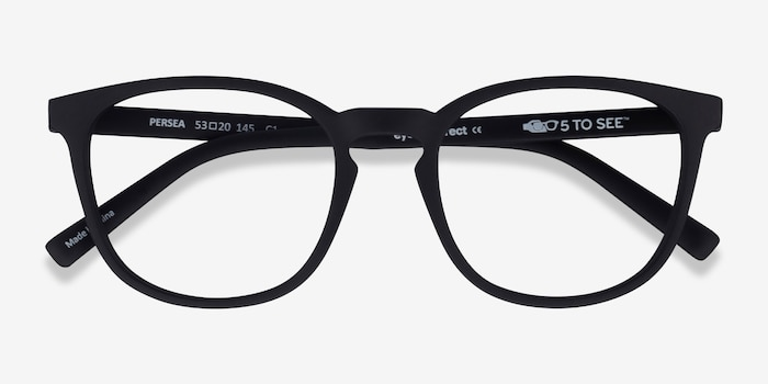 Persea Basalt Plastic Eyeglass Frames from EyeBuyDirect, Closed View