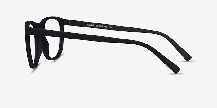 Catalpa Basalt Plastic Eyeglass Frames from EyeBuyDirect, Side View