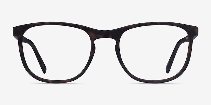 Catalpa Warm Tortoise Plastic Eyeglass Frames from EyeBuyDirect, Front View