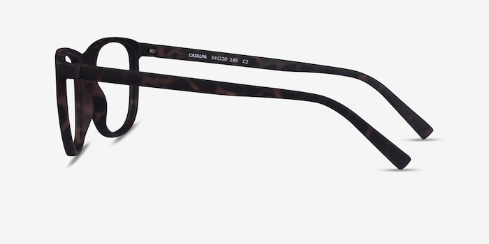 Catalpa Warm Tortoise Plastic Eyeglass Frames from EyeBuyDirect, Side View
