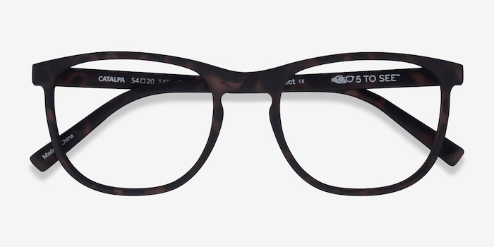 Catalpa Warm Tortoise Plastic Eyeglass Frames from EyeBuyDirect, Closed View