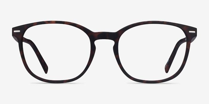Aloe Warm Tortoise Plastic Eyeglass Frames from EyeBuyDirect, Front View