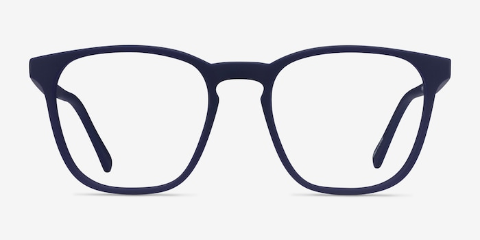 Eucalyptus Abyssal Blue Plastic Eyeglass Frames from EyeBuyDirect, Front View