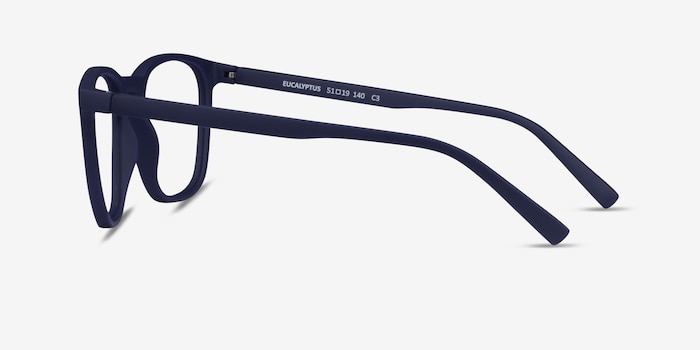 Eucalyptus Abyssal Blue Plastic Eyeglass Frames from EyeBuyDirect, Side View