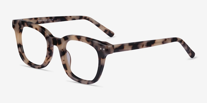Romy Ivory Tortoise Acetate Eyeglass Frames from EyeBuyDirect, Angle View
