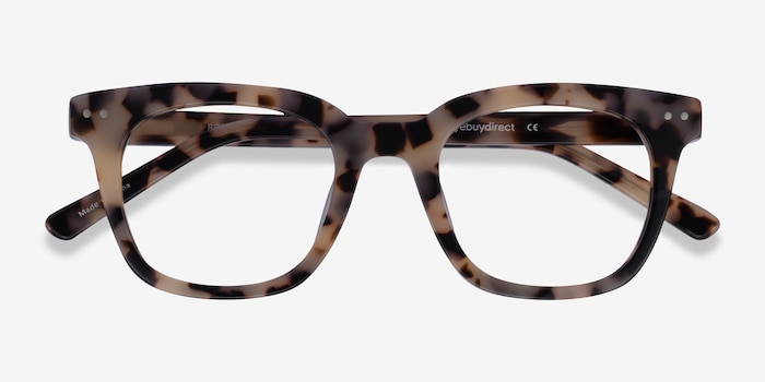 Romy Ivory Tortoise Acetate Eyeglass Frames from EyeBuyDirect, Closed View