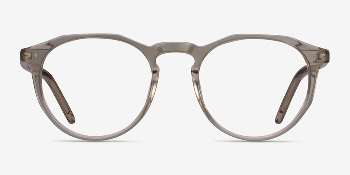 Planete Champagne Acetate Eyeglass Frames from EyeBuyDirect, Front View