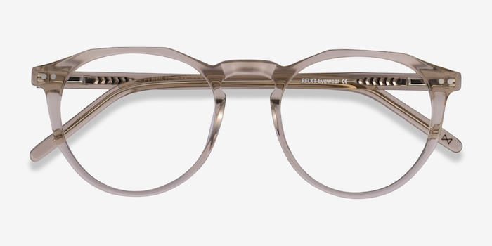 Planete Champagne Acetate Eyeglass Frames from EyeBuyDirect, Closed View