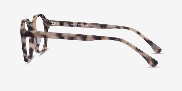 Orchid Ivory Tortoise Acetate Eyeglass Frames from EyeBuyDirect, Side View