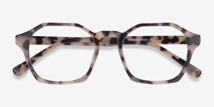 Orchid Ivory Tortoise Acetate Eyeglass Frames from EyeBuyDirect, Closed View