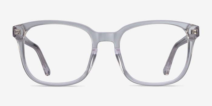 Tower Clear Acetate Eyeglass Frames from EyeBuyDirect, Front View