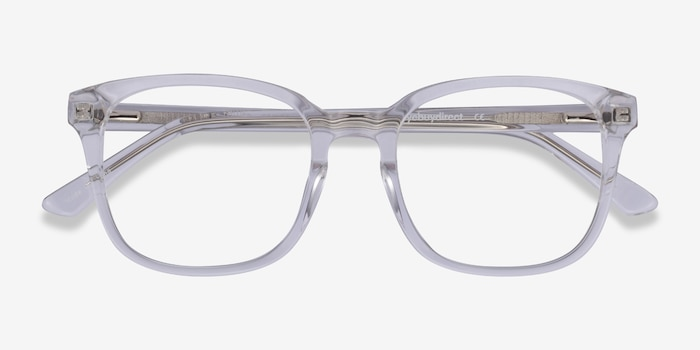 Tower Clear Acetate Eyeglass Frames from EyeBuyDirect, Closed View