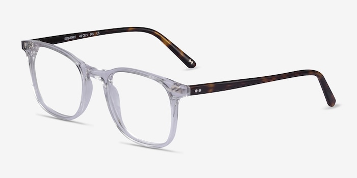 Sequence Translucent Acetate Eyeglass Frames from EyeBuyDirect, Angle View