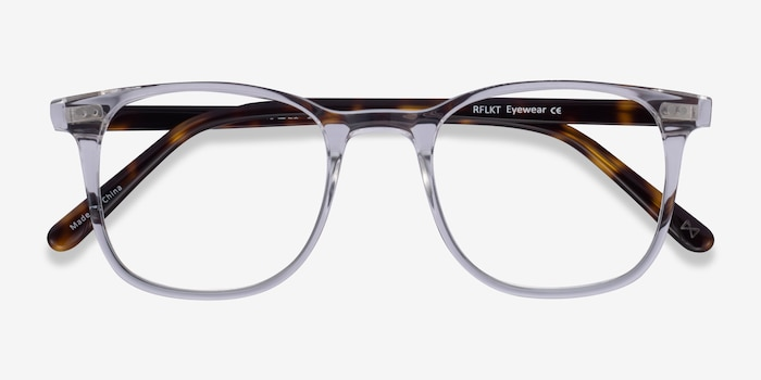 Sequence Translucent Acetate Eyeglass Frames from EyeBuyDirect, Closed View