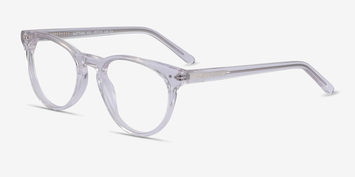 Notting Hill Clear Acetate Eyeglass Frames from EyeBuyDirect, Angle View