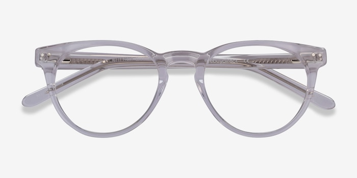 Notting Hill Clear Acetate Eyeglass Frames from EyeBuyDirect, Closed View