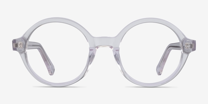 Groove Clear Acetate Eyeglass Frames from EyeBuyDirect, Front View