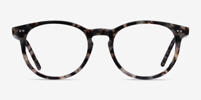Aura Ivory Tortoise Acetate Eyeglass Frames from EyeBuyDirect, Front View