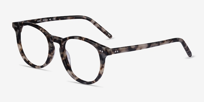 Aura Ivory Tortoise Acetate Eyeglass Frames from EyeBuyDirect, Angle View