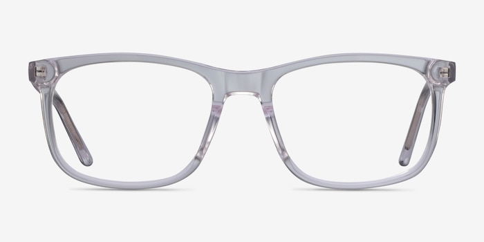 Ballast Clear Acetate Eyeglass Frames from EyeBuyDirect, Front View
