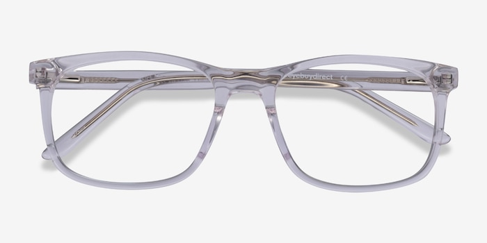 Ballast Clear Acetate Eyeglass Frames from EyeBuyDirect, Closed View