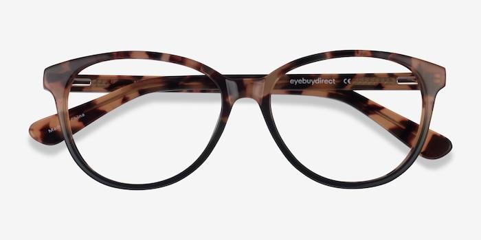 Hepburn Tortoise Green Acetate Eyeglass Frames from EyeBuyDirect, Closed View