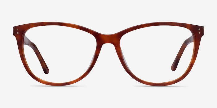 Solitaire Tortoise Acetate Eyeglass Frames from EyeBuyDirect, Front View