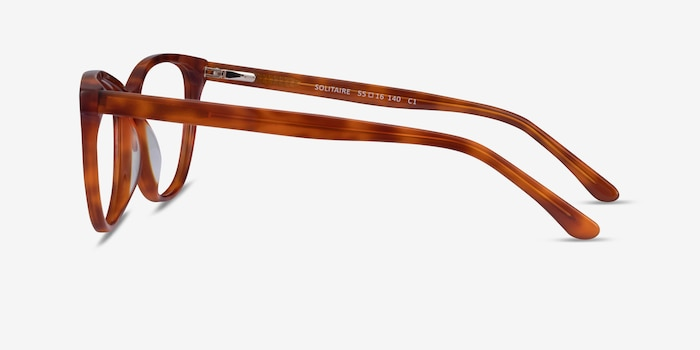 Solitaire Tortoise Acetate Eyeglass Frames from EyeBuyDirect, Side View