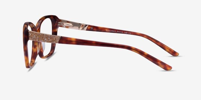Elegance Tortoise Acetate Eyeglass Frames from EyeBuyDirect, Side View