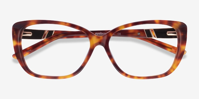 Elegance Tortoise Acetate Eyeglass Frames from EyeBuyDirect, Closed View