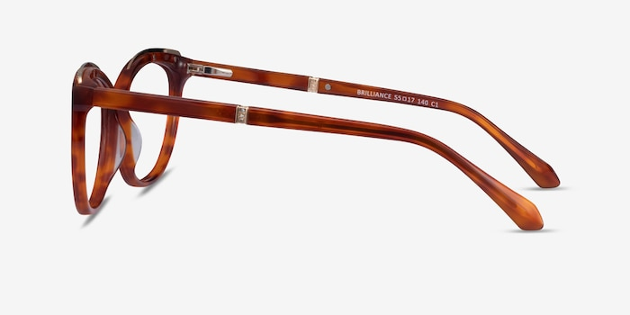 Brilliance Tortoise Acetate Eyeglass Frames from EyeBuyDirect, Side View