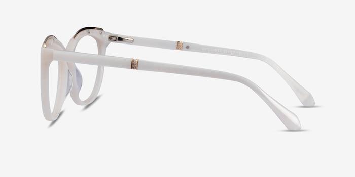 Brilliance White Acetate Eyeglass Frames from EyeBuyDirect, Side View