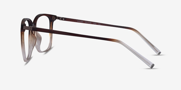 House Gradient Brown Plastic Eyeglass Frames from EyeBuyDirect, Side View