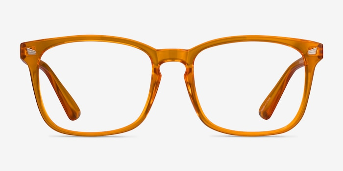 Hope Clear Orange Plastique Montures de Lunette de vue d'EyeBuyDirect, Vue de Face