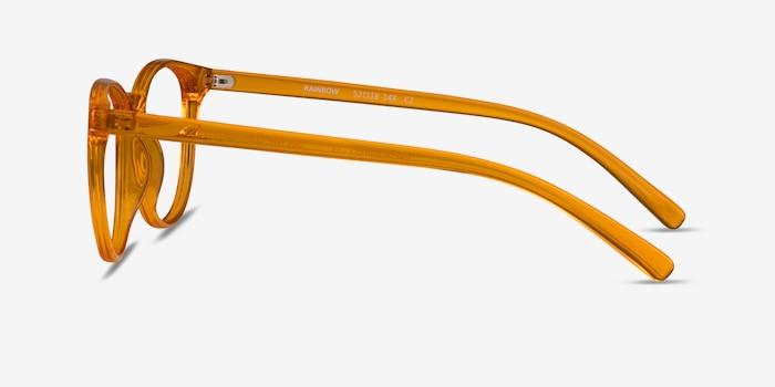 Rainbow Clear Orange Plastic Eyeglass Frames from EyeBuyDirect, Side View