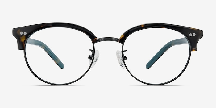 Annabel Tortoise Acetate-metal Eyeglass Frames from EyeBuyDirect, Front View