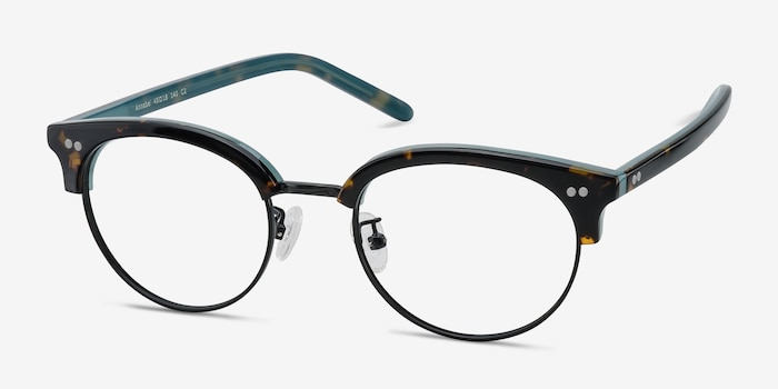 Annabel Tortoise Acetate-metal Eyeglass Frames from EyeBuyDirect, Angle View
