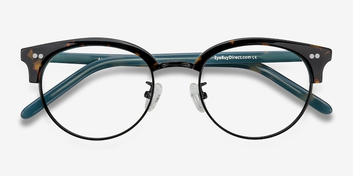 Annabel Tortoise Acetate Eyeglass Frames from EyeBuyDirect, Closed View