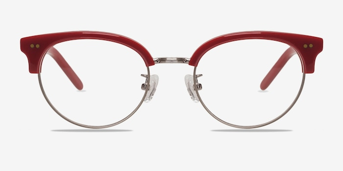 Annabel Red Plastic Eyeglass Frames from EyeBuyDirect, Front View