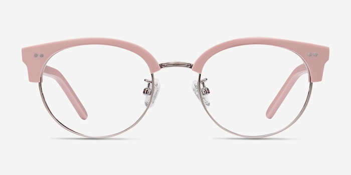 Annabel Pink Plastic Eyeglass Frames from EyeBuyDirect, Front View