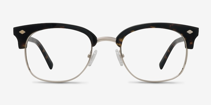 Japan Morning  Dark Tortoise  Acetate Eyeglass Frames from EyeBuyDirect, Front View
