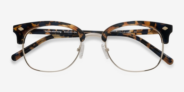 Japan Morning  Tortoise  Acetate Eyeglass Frames from EyeBuyDirect, Closed View