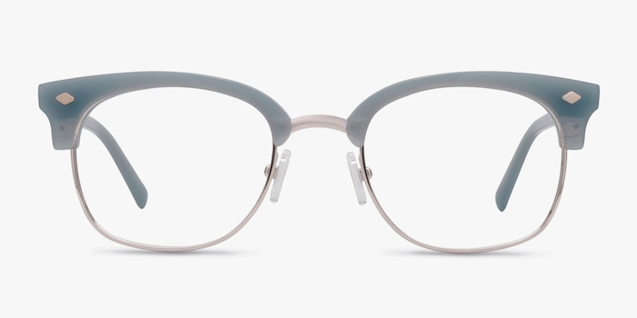 Japan Morning  Blue  Acetate Eyeglass Frames from EyeBuyDirect, Front View