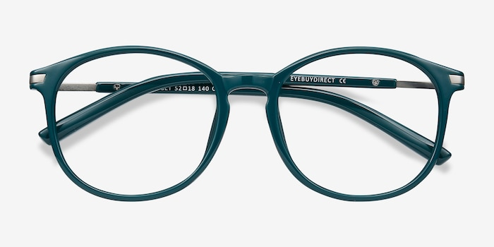 Lindsey Green Plastic Eyeglass Frames from EyeBuyDirect, Closed View