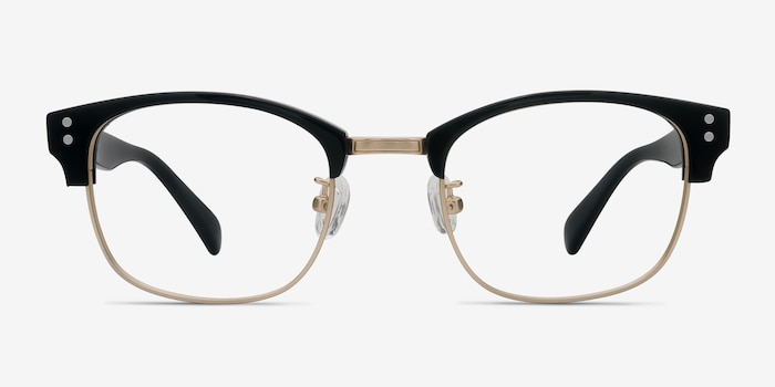 Look Up Black Acetate Eyeglass Frames from EyeBuyDirect, Front View