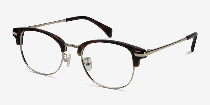 Kinjin Tortoise Acetate Eyeglass Frames from EyeBuyDirect, Angle View