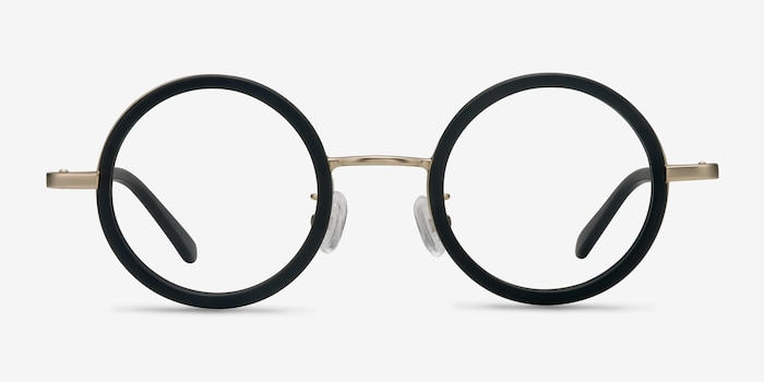 Roaring Black Acetate Eyeglass Frames from EyeBuyDirect, Front View